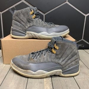 Used Air Jordan 12 Dark Grey Shoes Size 10
